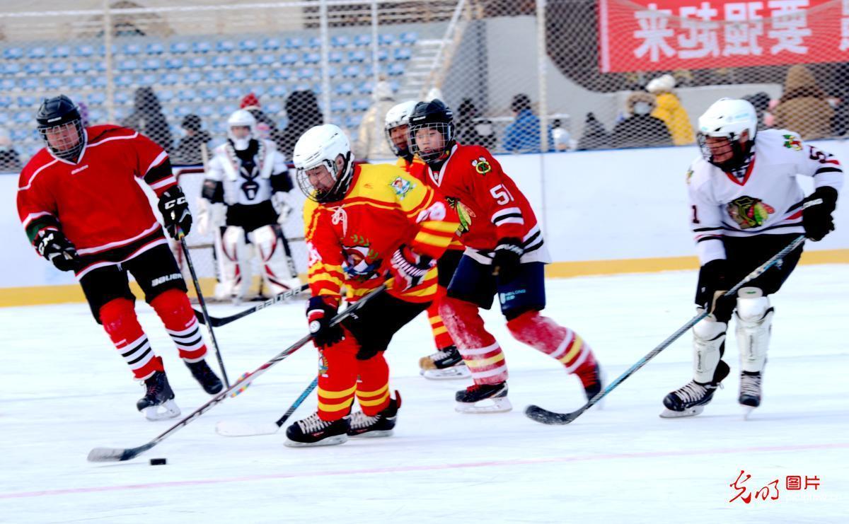 冰球运动 助力冬奥
