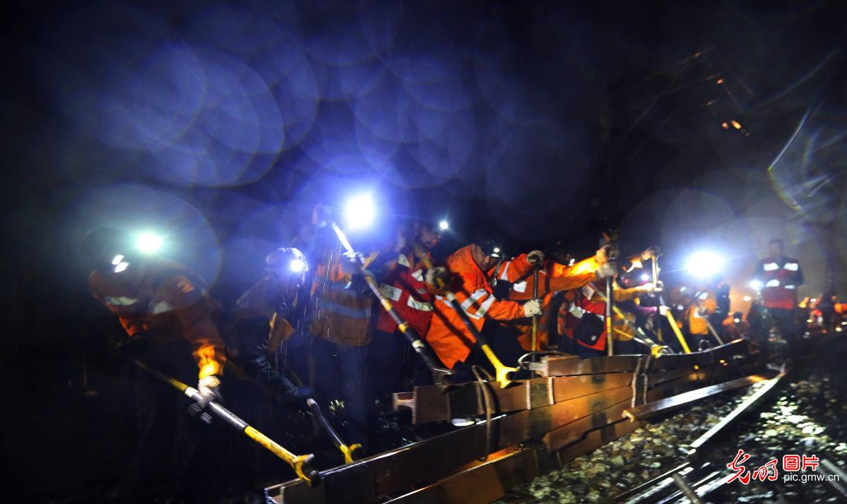 Railway staff in works to keep the network running