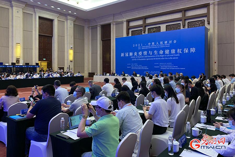 China-Europe seminar cares for human rights during pandemic