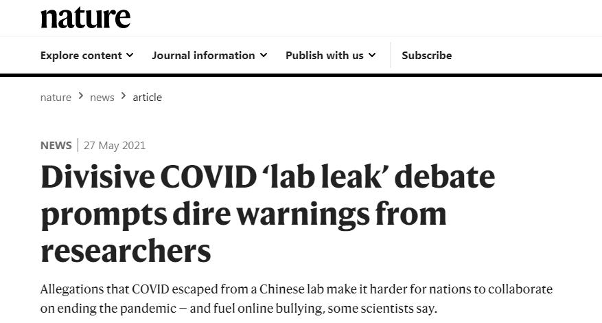 Lab-leak theory half-truths, misrepresentations, and tendentious conjecture: says media