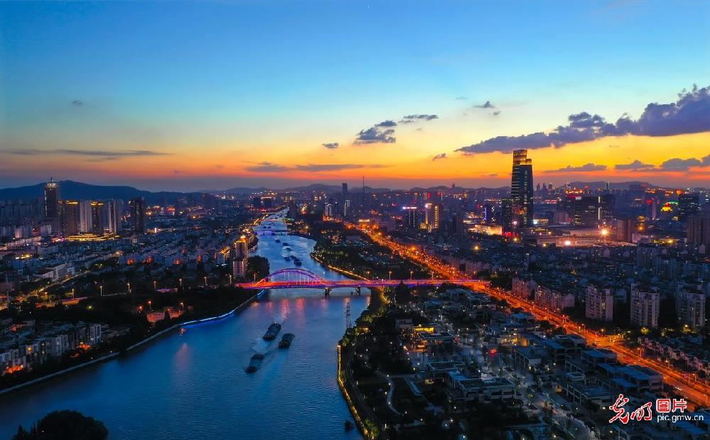 Picturesque cityscape of SE China's Suzhou