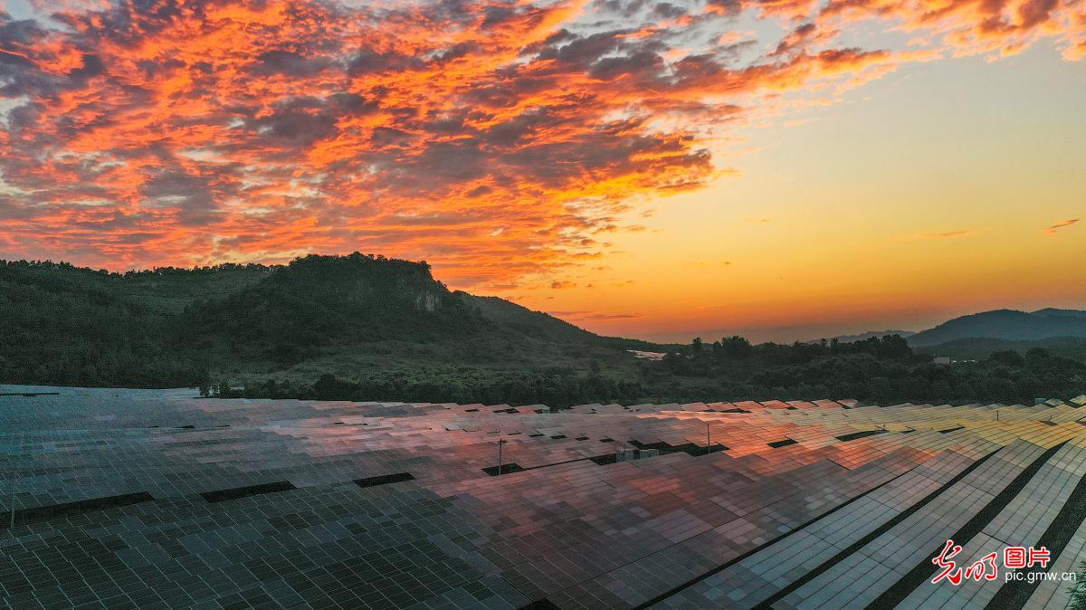 Photovoltaic power station in E China's Jiangxi Province