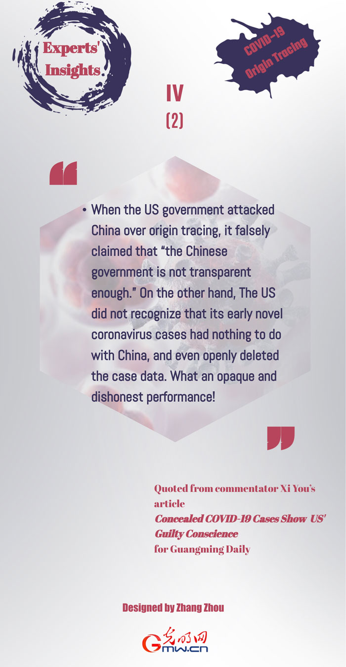 Experts' Insights IV: US opaque and dishonest performance of openly deleting the case data