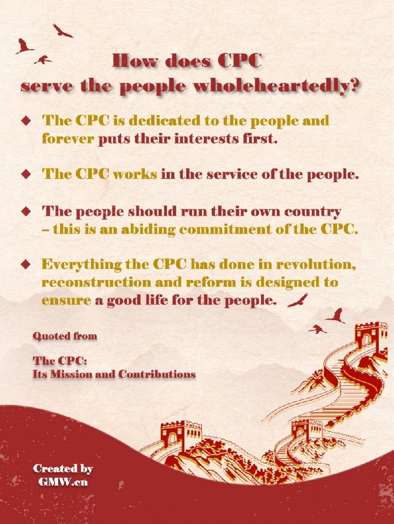 CPC's Mission and Contributions:How does the Party serve the people wholeheartedly?