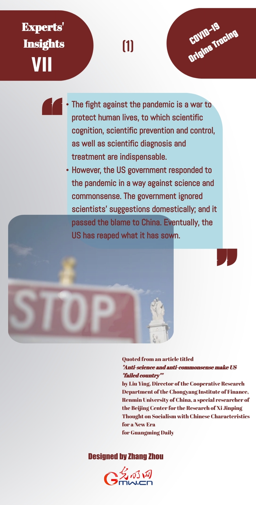 Experts' Insights VII: Anti-science and Anti-commonsense make US