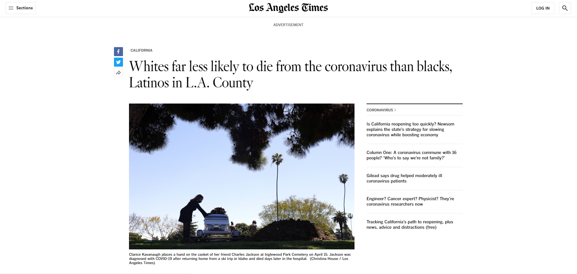 Racial and poverty problems behind coronavirus deaths in L.A. County