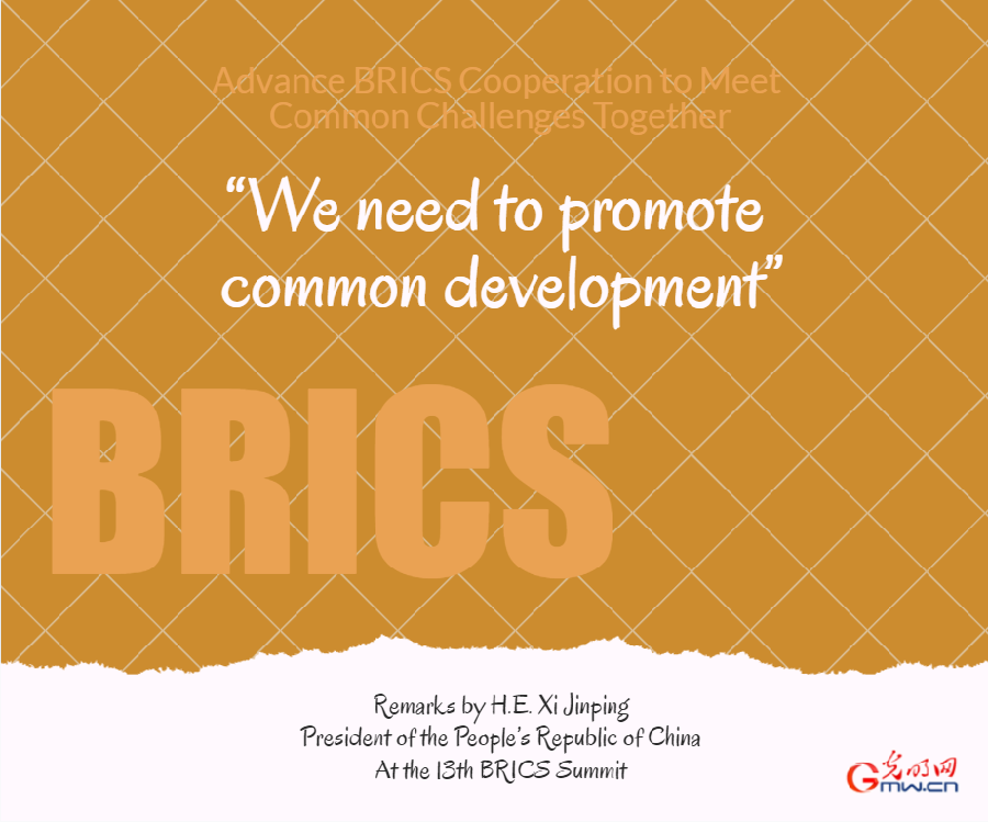 Xi calls on BRICS countries to advance building of community with a shared future for mankind