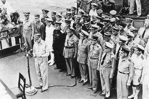 二战日本投降及签字仪式【图】_光明网