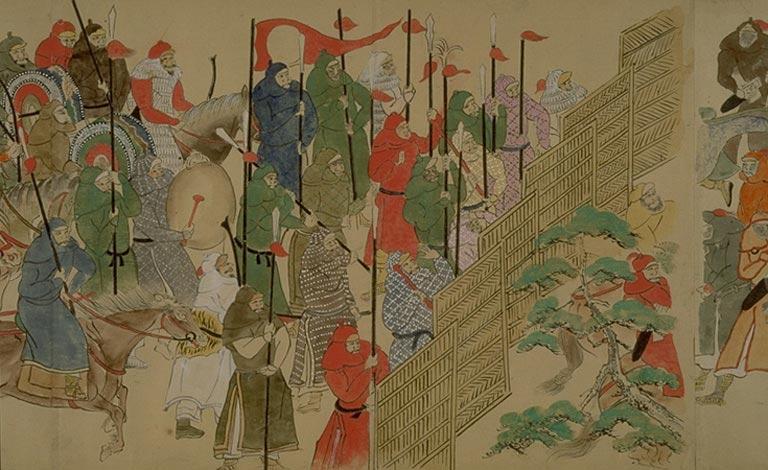 日本人绘制蒙古征日画卷【组图】 - 德王 - 德王的博客
