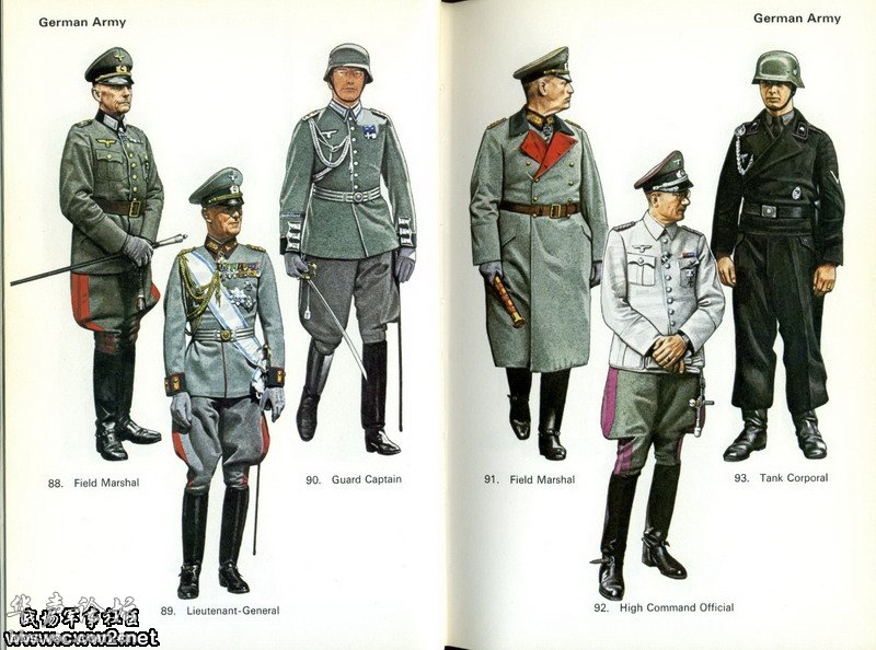 二战时期纳粹德国的军服大全图
