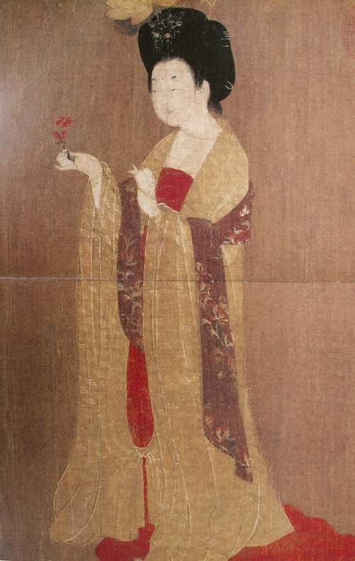 唐代贵族冬季寒冷不烤火 伸进美女怀中取暖图