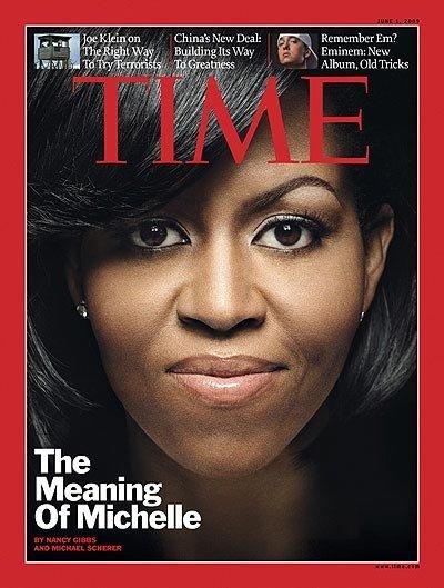 米歇尔·奥巴马2009年6月登上《time》杂志封面.来源:环球网