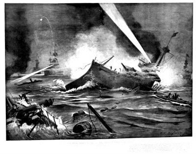 1895年5月18日《哈珀斯周刊》 威海卫海战