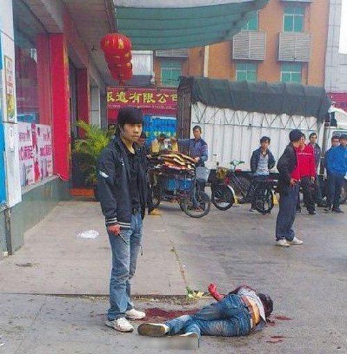 小伙东莞求职被骗300元 当街捅死中介图 法