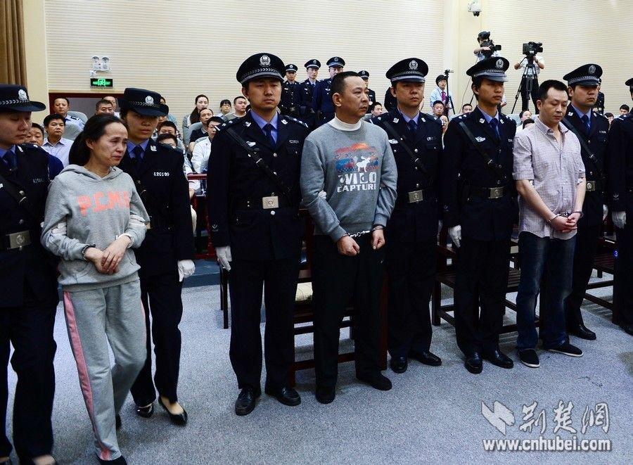 刘汉﹑刘维两兄弟被判死刑时的表情 图片新