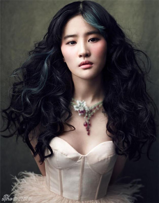 女神刘亦菲黑纱遮面冷艳范 红唇低胸玩性感2