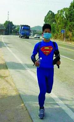 小伙跑350公里回家过年:梦是做出来的,路是跑出来的