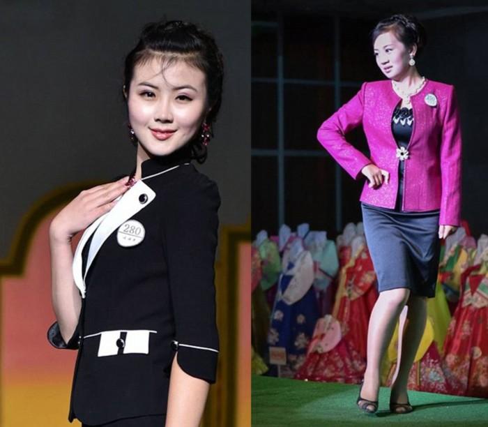 朝鲜美女穿高跟鞋涂大红唇 法治频道