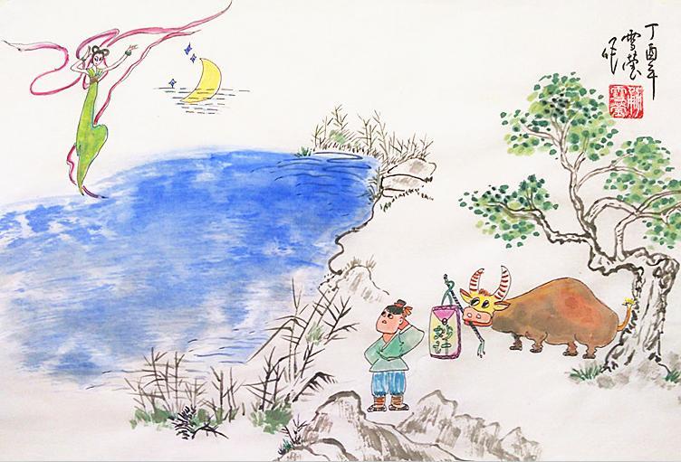 放牛娃娶了七仙女--南阳七夕节的读者_漫画gl传说肉图片
