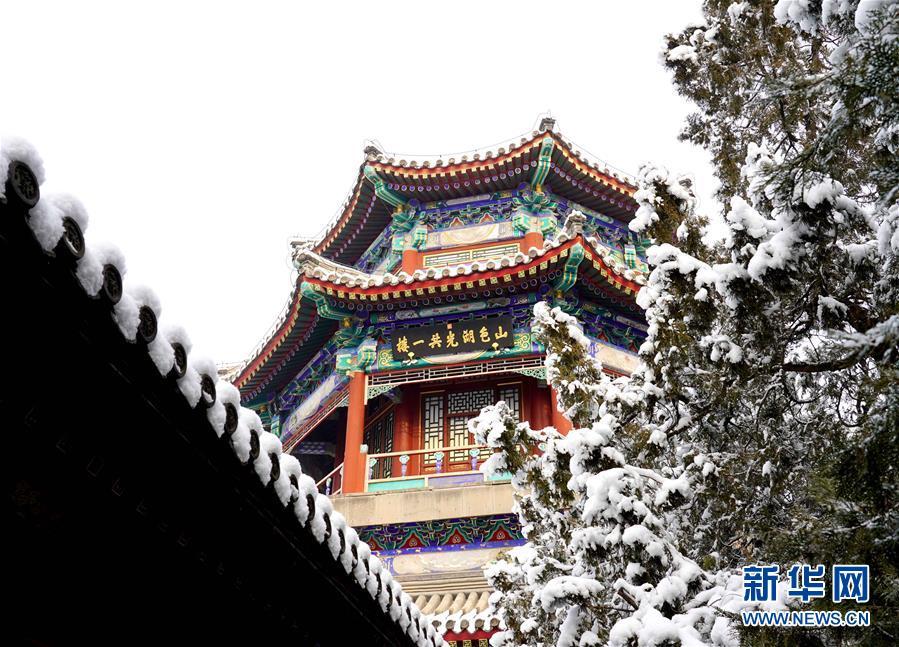(环境)(1)雪后颐和园美如画