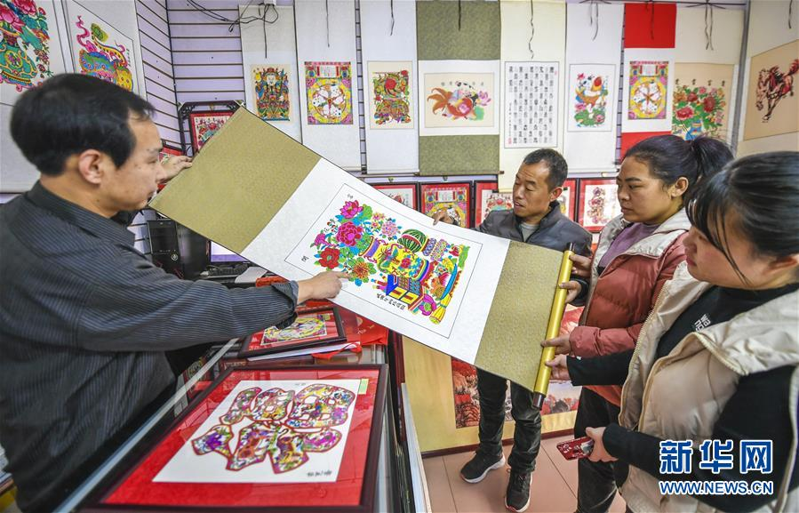 (经济)(3)河北武强:木版年画节前产销两旺