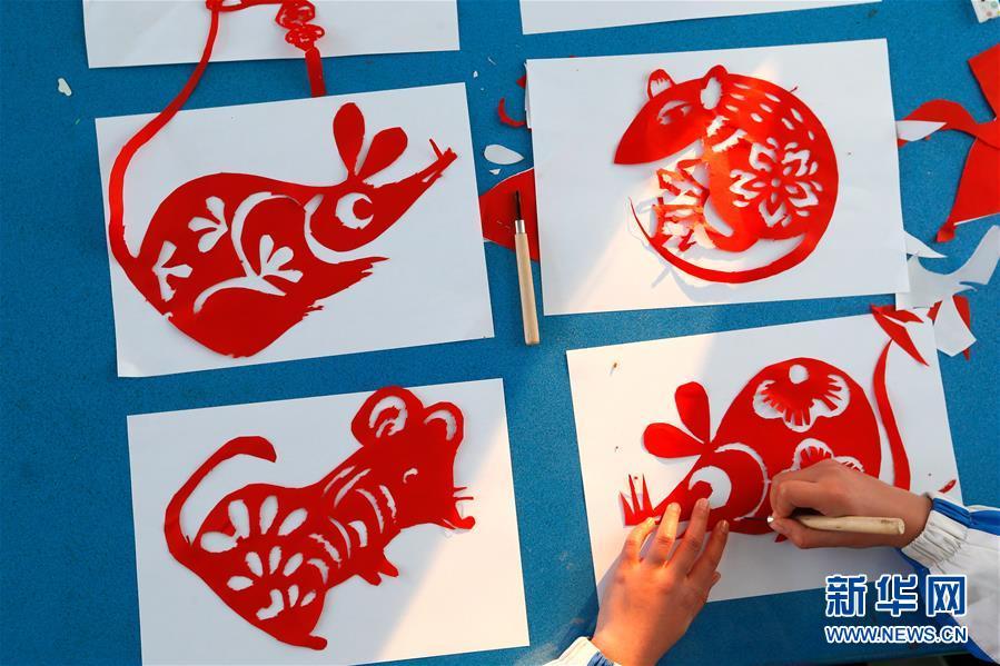 #(社会)(4)山东即墨:秀才艺 迎鼠年