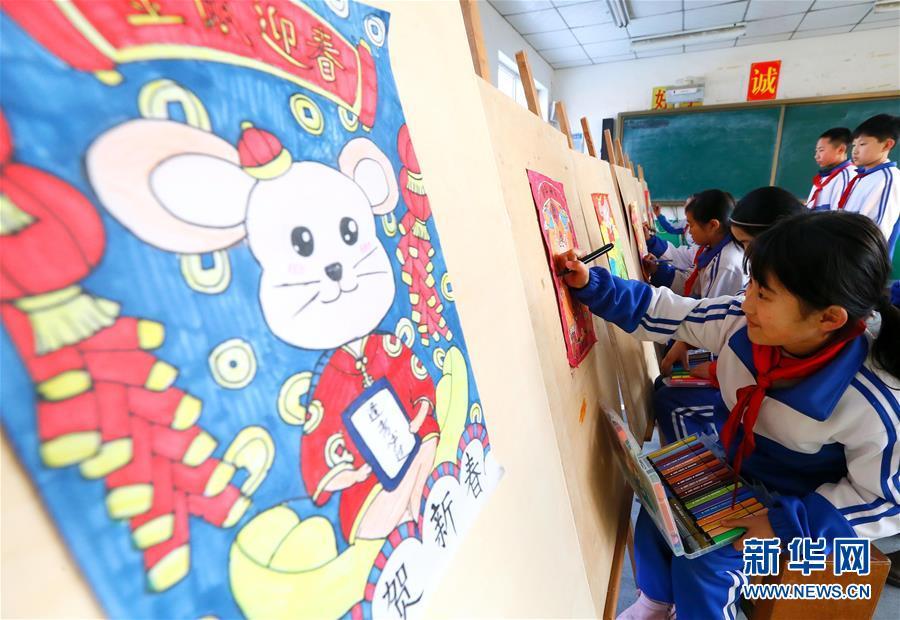 #(社会)(3)山东即墨:秀才艺 迎鼠年