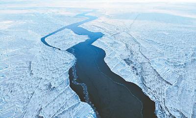 冰清玉洁青海湖 冬天的青海湖辽阔无垠