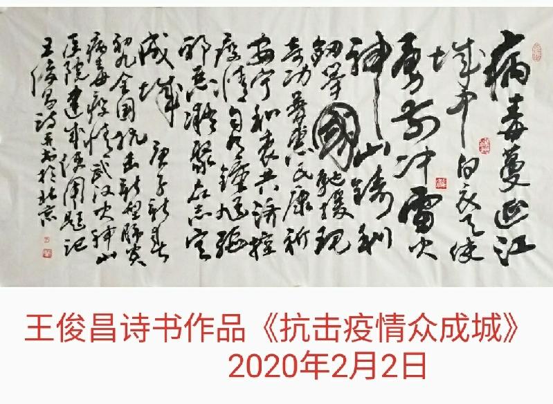 诗援武汉 共抗疫情(9)抗击疫情众成城(作者:王俊昌)