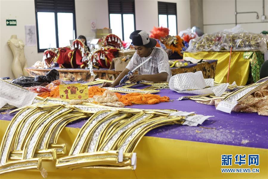 (国际·图文互动)(1)通讯:巴西舞校推出中国主题桑巴巡游
