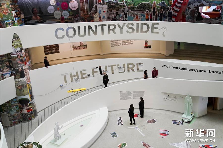 """(国际)(2)纽约古根海姆博物馆举行""""乡村,未来""""展览"""
