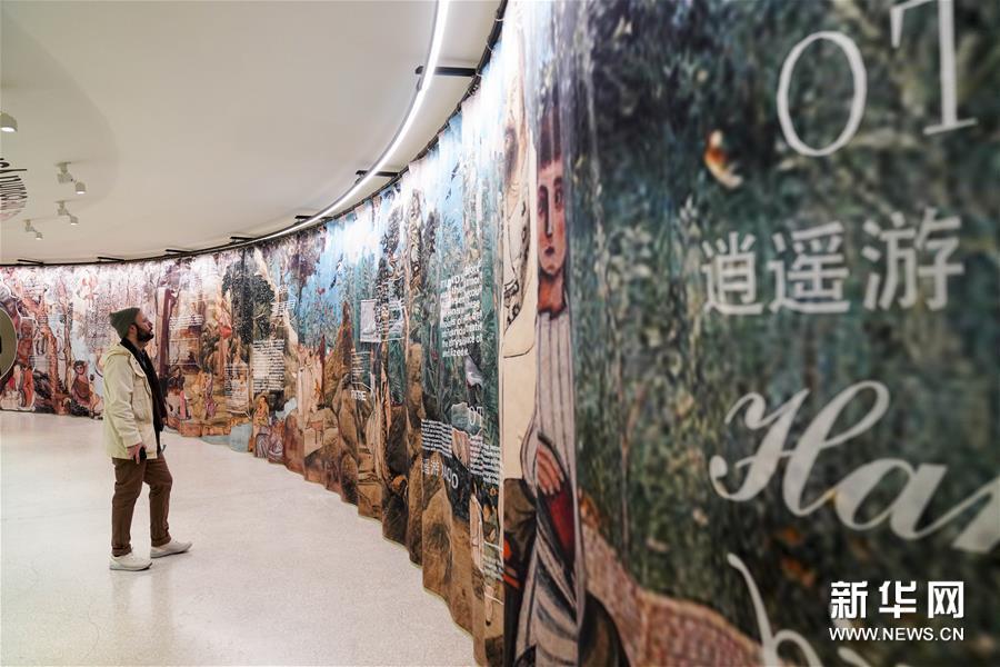 """(国际)(4)纽约古根海姆博物馆举行""""乡村,未来""""展览"""