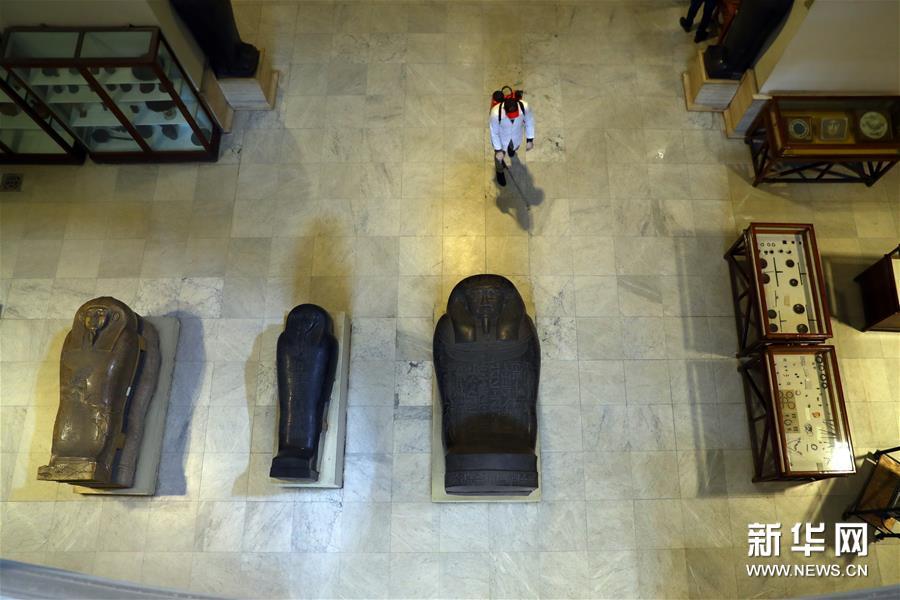 (国际疫情)(1)埃及博物馆闭馆消毒