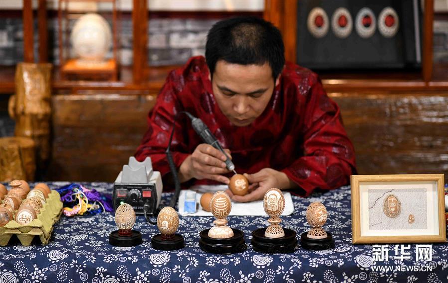#(社会)(7)精美的蛋雕艺术