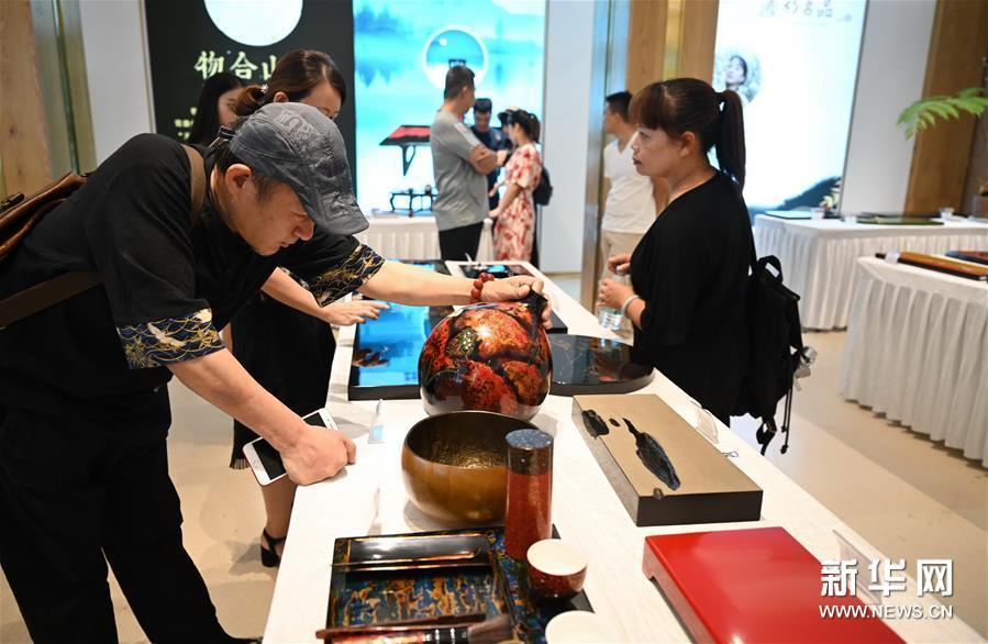 (文化)(5)福州举办大漆茶器展