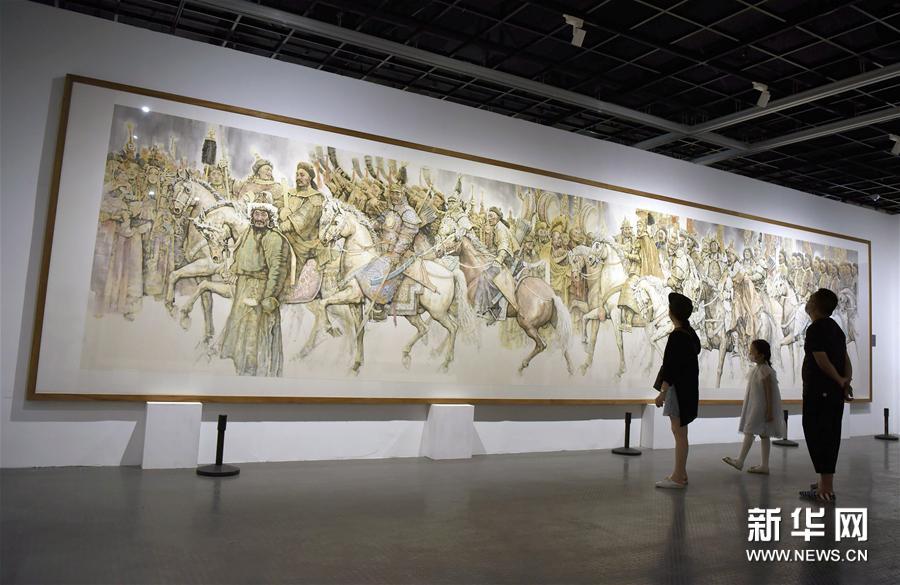 """#(文化)(4)""""一带一路""""国际美术工程作品展在杭州开展"""
