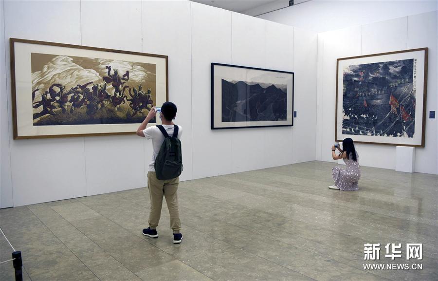 """#(文化)(5)""""一带一路""""国际美术工程作品展在杭州开展"""