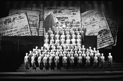 七届二中全会历史照片-出现场. 资料图片-赶考 路上唱响西柏坡之歌图片