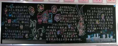 国庆主题的黑板报范例