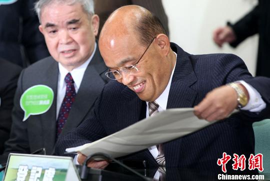 苏贞昌 资料图 中新社发 董会峰 摄  苏贞昌4日出席超越影...