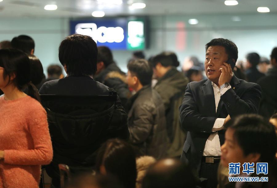 (社会)(2)北京降雪导致部分航班延误