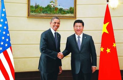 习近平会见美国总统奥巴马图片