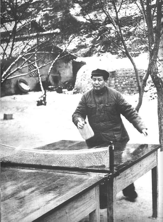 打乒乓球﹑游泳﹑看比赛﹕毛泽东的体育情结 组图