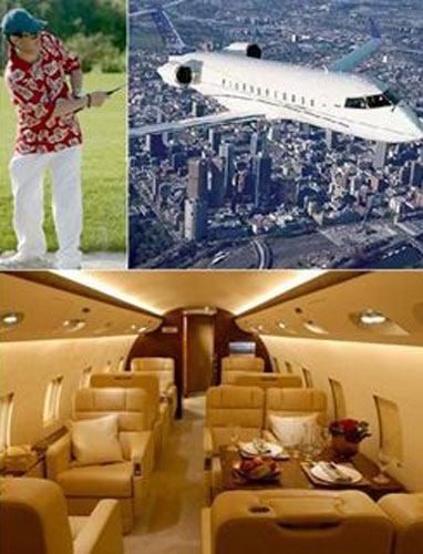 私人飞机照片,该飞机不但豪华