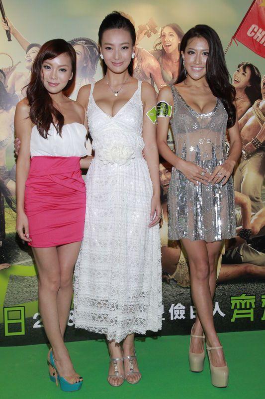 香港情色片《一路向西》首映 女星透视露背装