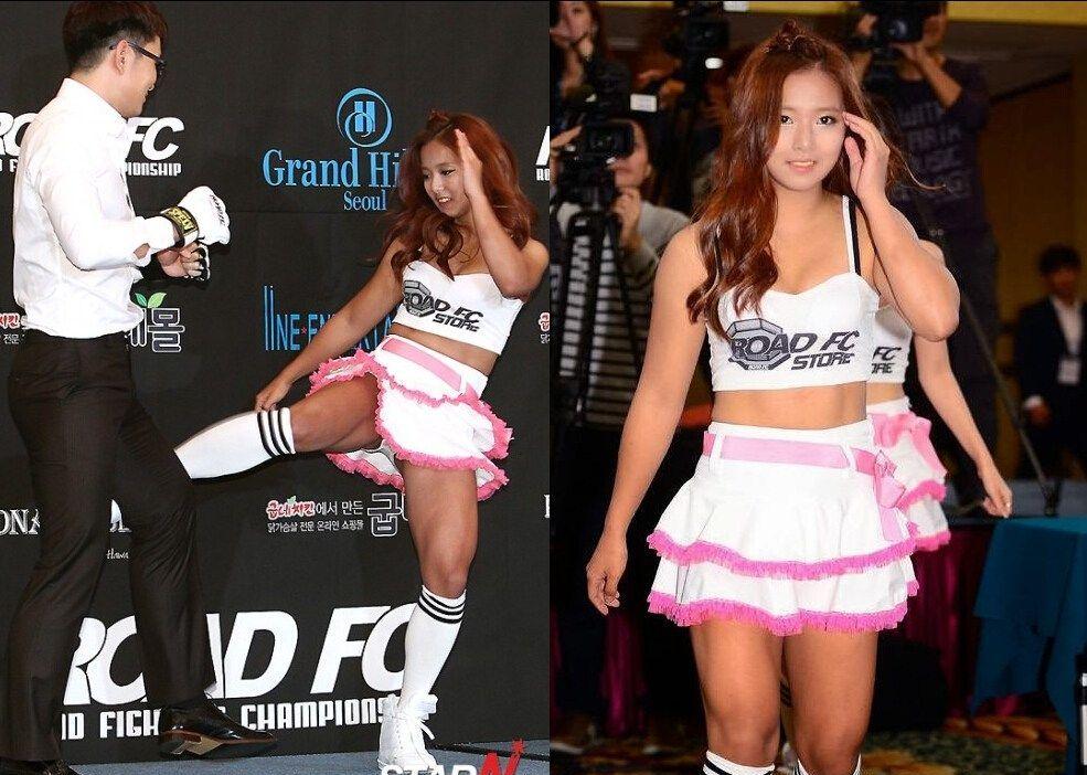 韩国综合格斗美女选手爆乳秀腹肌 综合体