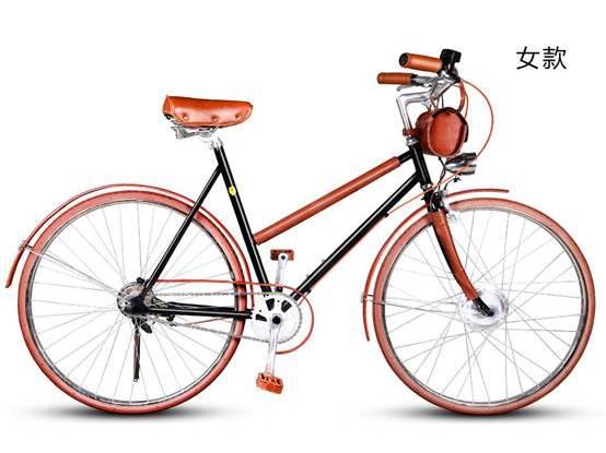本次发布的皮艺复古怀旧款自行车于9月23日在京东众筹平台首发.-