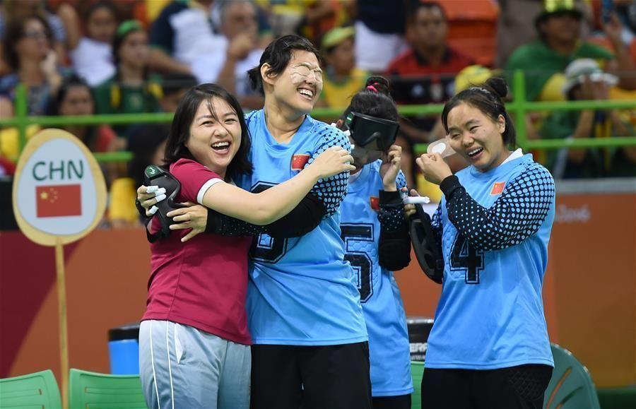 残奥门球盲人中国女队晋级v门球杭州蹦蹦床地址图片